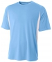 A4 Men's Performance Color Block Crew Shirt (Light Blue) - A4 Men's Apparel Tennis Apparel