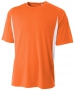A4 Men's Performance Color Block Crew Shirt (Orange) - A4 Men's Apparel Tennis Apparel