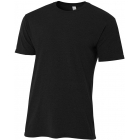 A4 Men's Performance Tri Blend Tee (Black) - Men's Tops T-Shirts & Crew Necks Tennis Apparel