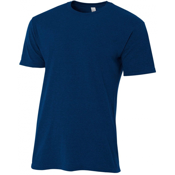 A4 Men's Performance Tri Blend Tee (Navy)