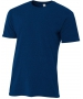 A4 Men's Performance Tri Blend Tee (Navy) - A4 Men's T-Shirts & Crew Necks Tennis Apparel