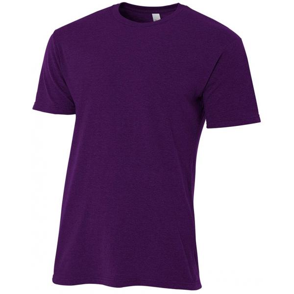A4 Men's Performance Tri Blend Tee (Purple)