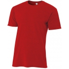 A4 Men's Performance Tri Blend Tee (Scarlet) - Men's Tops T-Shirts & Crew Necks Tennis Apparel