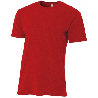 A4 Men's Performance Tri Blend Tee (Scarlet)