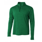 A4 Men's Inspire Quarter Zip Long Sleeve Tennis Warm-Up Top (Kelly) - A4 Apparel