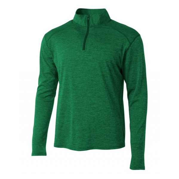 A4 Men's Inspire Quarter Zip Long Sleeve Tennis Warm-Up Top (Kelly)