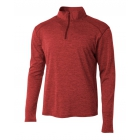 A4 Men's Inspire Quarter Zip Long Sleeve Tennis Warm-Up Top (Red) - A4 Apparel