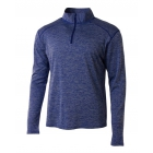 A4 Men's Inspire Quarter Zip Long Sleeve Tennis Warm-Up Top (Royal) -
