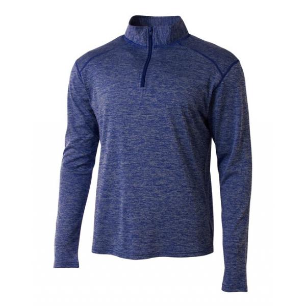 A4 Men's Inspire Quarter Zip Long Sleeve Tennis Warm-Up Top (Royal)
