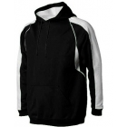 A4 Men's Pullover Hoodie Warm-Up Jacket (Black/ White) - Men's Outerwear Jackets Tennis Apparel