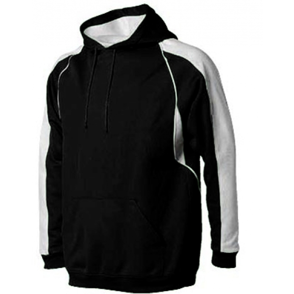 A4 Men's Pullover Hoodie Warm-Up Jacket (Black/ White)