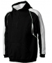 A4 Men's Pullover Hoodie Warm-Up Jacket (Black/ White) - Men's Outerwear Tennis Apparel