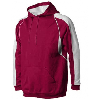 A4 Men's Pullover Hoodie Warm-Up Jacket (Cardinal/ White)