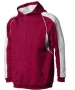 A4 Men's Pullover Hoodie Warm-Up Jacket (Cardinal/ White) - Men's Outerwear Tennis Apparel