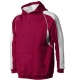 A4 Men's Pullover Hoodie Warm-Up Jacket (Cardinal/ White) - Men's Outerwear Jackets Tennis Apparel