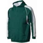 A4 Men's Pullover Hoodie Warm-Up Jacket (Forest/ White) - Men's Outerwear Jackets Tennis Apparel