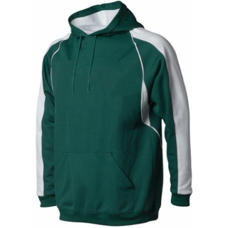 A4 Men's Pullover Hoodie Warm-Up Jacket (Forest/ White)