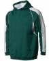 A4 Men's Pullover Hoodie Warm-Up Jacket (Forest/ White) - Men's Outerwear Tennis Apparel