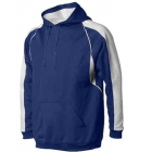 A4 Men's Pullover Hoodie Warm-Up Jacket (Navy/ White) - Men's Outerwear Jackets Tennis Apparel