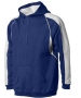 A4 Men's Pullover Hoodie Warm-Up Jacket (Navy/ White) - Men's Outerwear Tennis Apparel