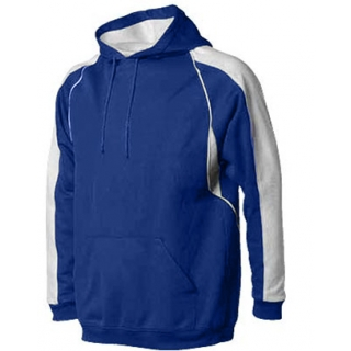 A4 Men's Pullover Hoodie Warm-Up Jacket (Royal/ White)