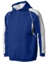 A4 Men's Pullover Hoodie Warm-Up Jacket (Royal/ White) - Men's Outerwear Tennis Apparel