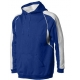 A4 Men's Pullover Hoodie Warm-Up Jacket (Royal/ White) - Men's Outerwear Jackets Tennis Apparel