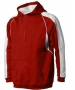 A4 Men's Pullover Hoodie Warm-Up Jacket (Scarlet/ White) - Men's Outerwear Tennis Apparel