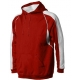 A4 Men's Pullover Hoodie Warm-Up Jacket (Scarlet/ White) - Men's Outerwear Jackets Tennis Apparel