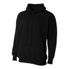 A4 Men's Fleece Hoodie (Black) - Men's Outerwear Jackets Tennis Apparel