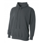 A4 Men's Fleece Hoodie (Graphite) - Men's Outerwear Jackets Tennis Apparel