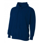 A4 Men's Fleece Hoodie (Navy) - Men's Outerwear Jackets Tennis Apparel
