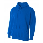 A4 Men's Fleece Hoodie (Royal) - Men's Outerwear Jackets Tennis Apparel