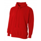 A4 Men's Fleece Hoodie (Scarlet) - Men's Outerwear Jackets Tennis Apparel