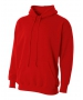 A4 Men's Fleece Hoodie (Scarlet) - A4 Men's Apparel Tennis Apparel