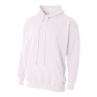 A4 Men's Fleece Hoodie (White) - Men's Outerwear Jackets Tennis Apparel
