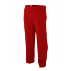 A4 Men's Open Bottom Pocketed Fleece Pant (Scarlet) - A4