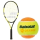 Babolat Nadal Jr Tennis Racquet, Orange Tennis Ball Bundle - Junior Bundle Packs