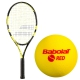 Babolat Nadal Jr Tennis Racquet, Red Foam Tennis Ball Bundle - Junior Bundle Packs