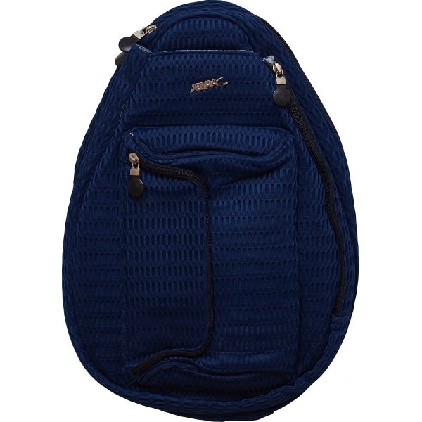 Jet Navy Mesh Petite Backpack