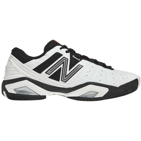New Balance Men's MC1187WB (D) Tennis Shoes (Wht/ Blk)