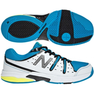 New Balance Men's MC656BY (2E) Tennis Shoes (Wht/ Blu/ Ylw)