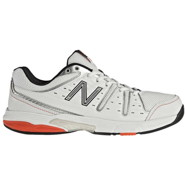 New Balance Men's MC656WR (D) Tennis Shoes (Wht/ Red)