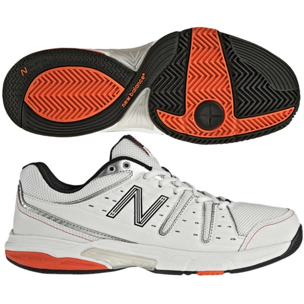 New Balance Men's MC656WR (2E) Tennis Shoes (Wht/ Red)