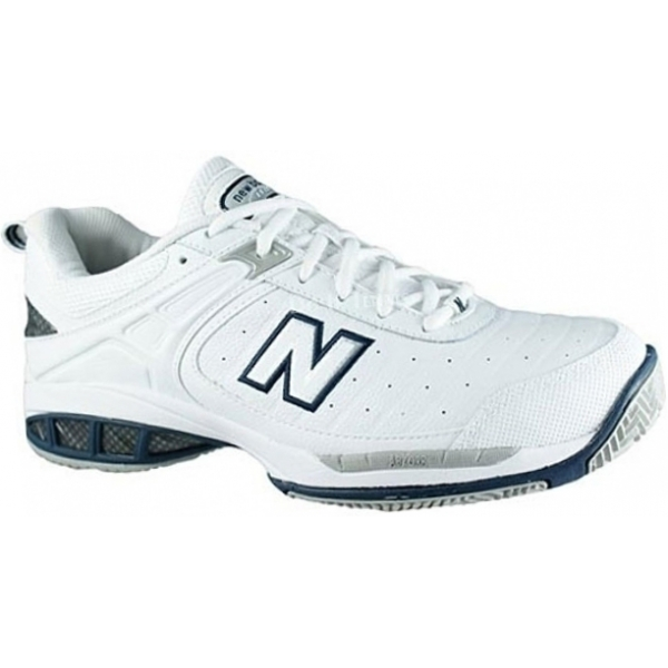 New Balance Men's MC804W (D) Tennis Shoe (Wht/ Nvy)