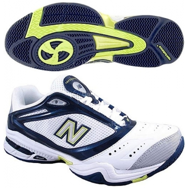 New Balance Men's MC900WT (D) Tennis Shoe (Wht/ Nvy/ Gry)