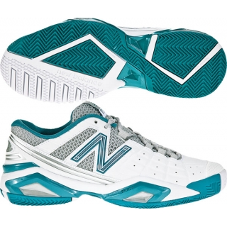 New Balance Women's WC1187 (B) Tennis Shoes (Wht/ Teal)