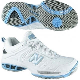 New Balance Women's WC804W (D) Tennis Shoe (Wht/ Lt Blu)