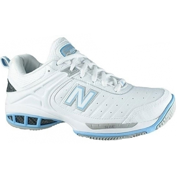 New Balance Women's WC804W (B) Tennis Shoe (Wht/ Lt Blu)