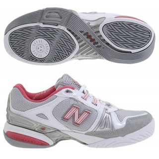 New Balance Women's WCT1004S (2A) Tennis Shoe (Wht/ Gry/ Red)